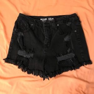Mossimo black jean high waisted shorts size 8/29